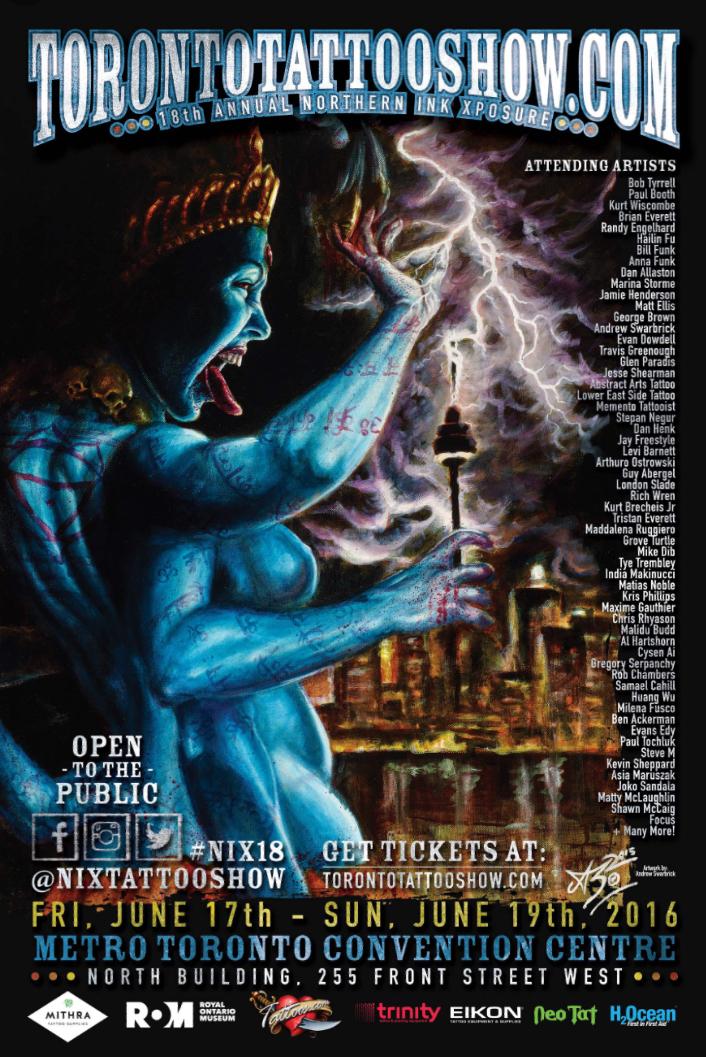 Toronto Tattoo Show Québec 17-19.06.2016